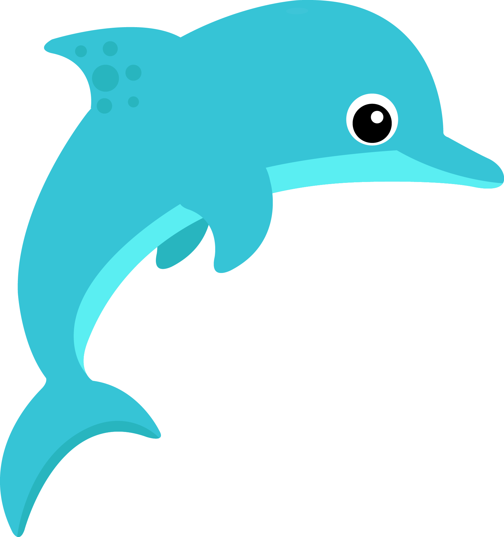 Dolphin clipart printable. To free images
