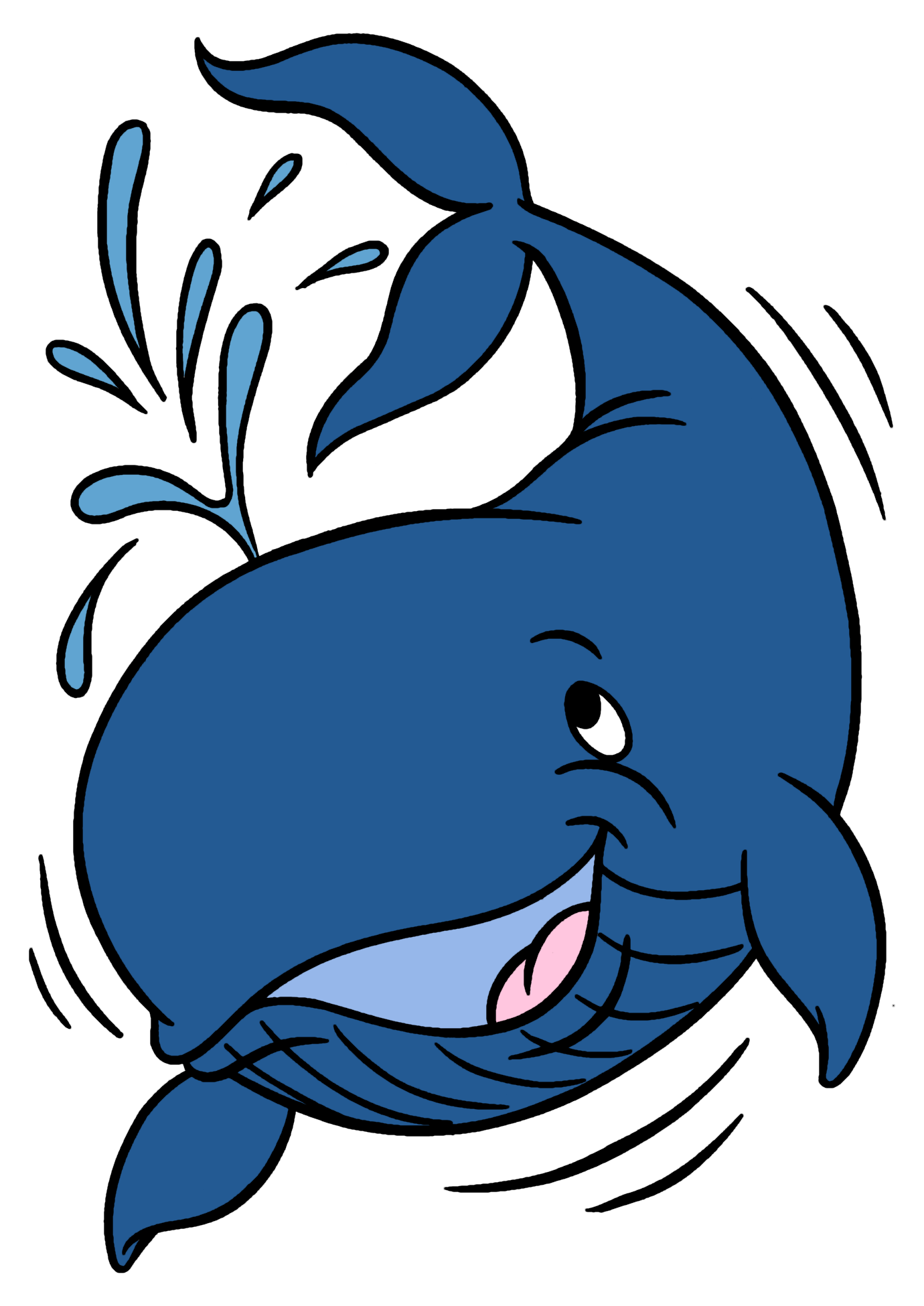 Blue whale cute baby. Dolphin clipart printable