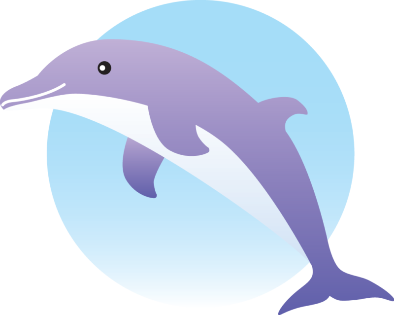 Dolphin clipart purple. Free black and white