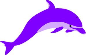 Dolphin clipart purple. Clip art at clker