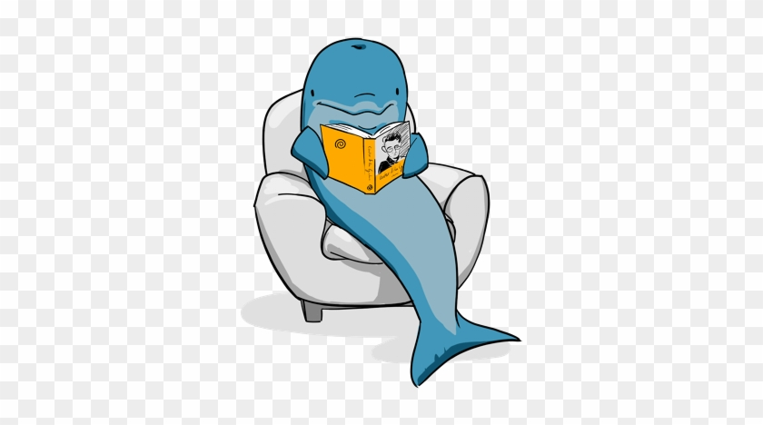 A book free . Dolphin clipart reading