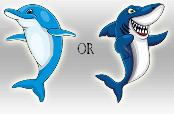 Dolphin clipart shark. Is your b telemarketer