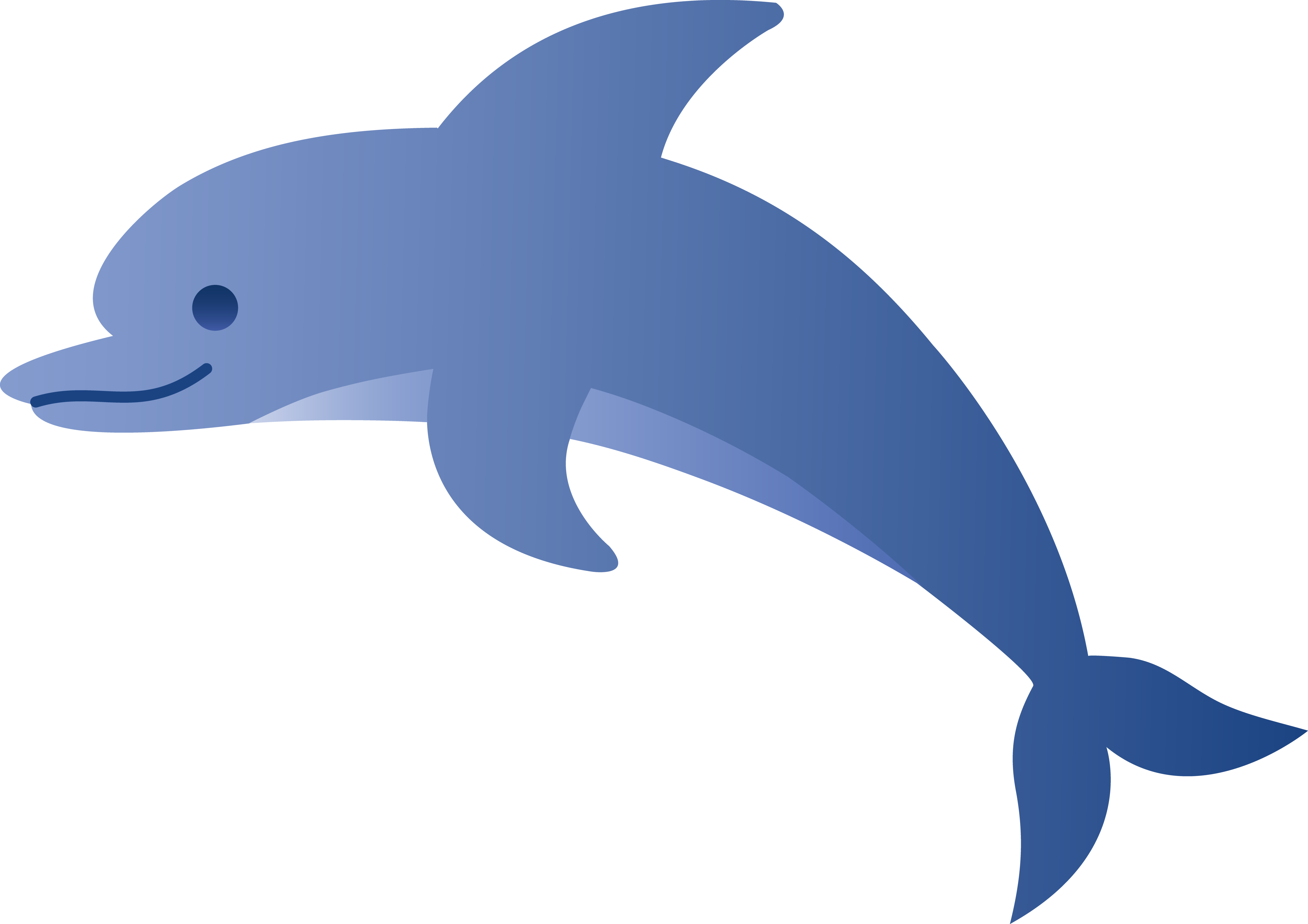 collection of fin. Dolphin clipart simple