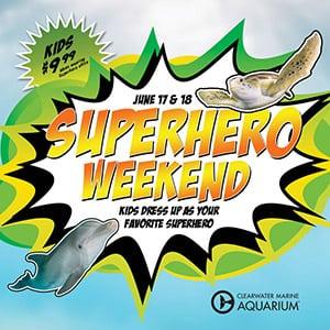 Weekend clearwater marine aquarium. Dolphin clipart superhero