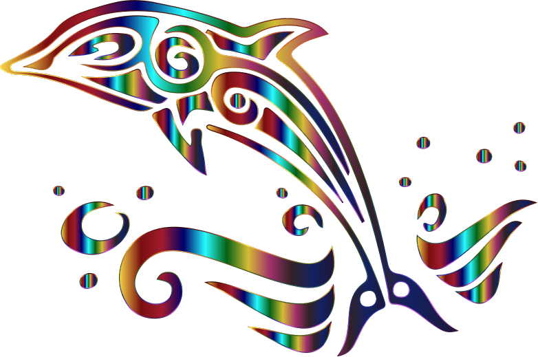Chromatic no background medium. Dolphin clipart tribal