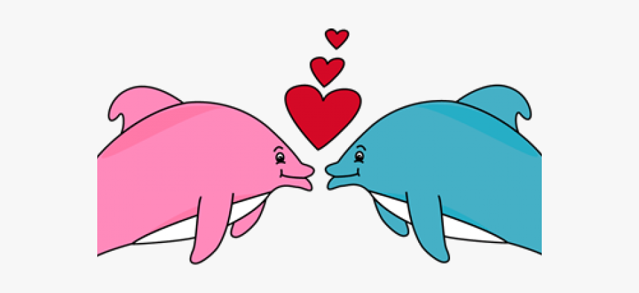 Dolphin clipart valentines. Dolphines cartoon day