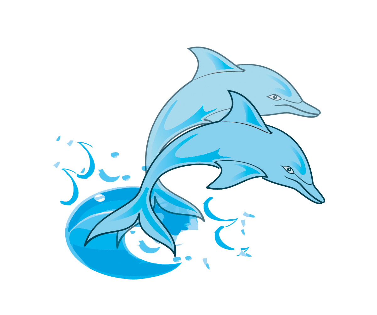 Dolphin clipart tribal. Paintings free pair of