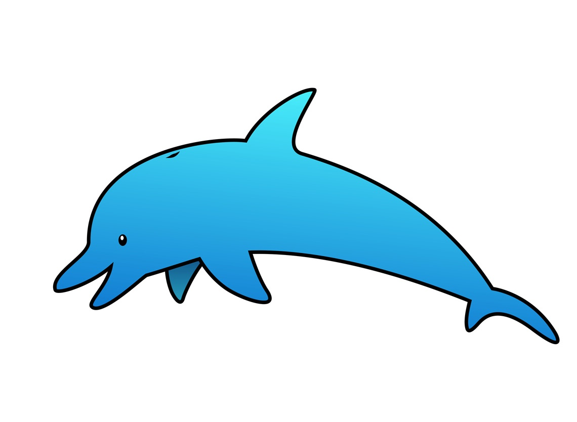 Pictures on animal picture. Dolphin clipart side view