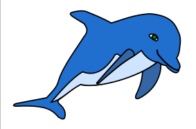 Dolphins clipart blue dolphin. Images free download best