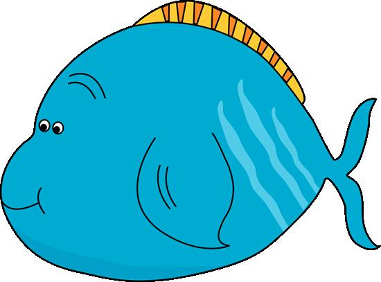 Cute fat clip art. Fish clipart light blue