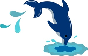 Free dolphin jumping clip. Dolphins clipart splashing