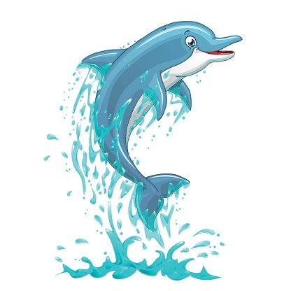 Dolphins clipart splashing. Dolphin jumps in water