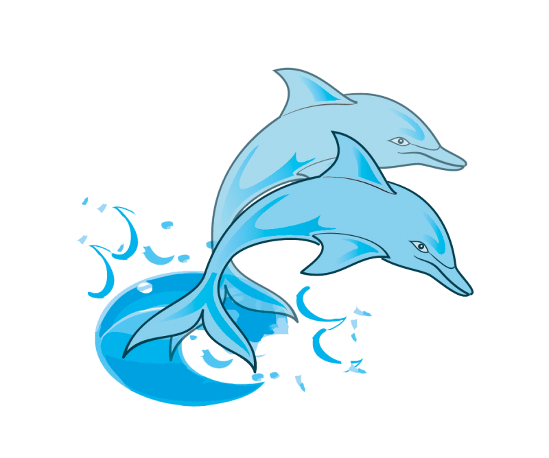 Smiling dolphin . Dolphins clipart toon