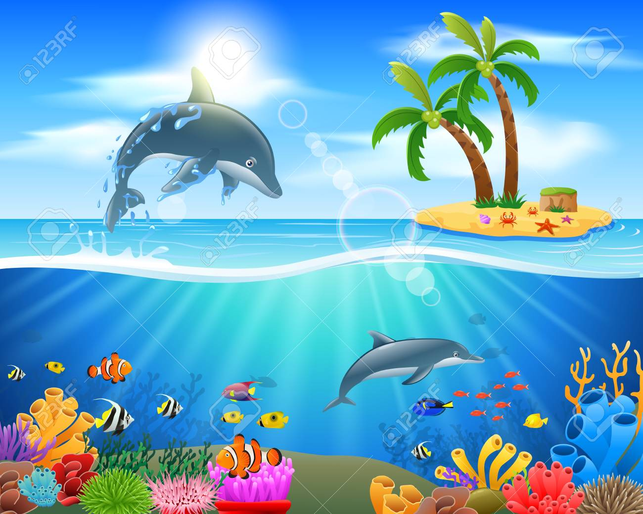 Dolphins clipart under sea. Bottlenose dolphin x free
