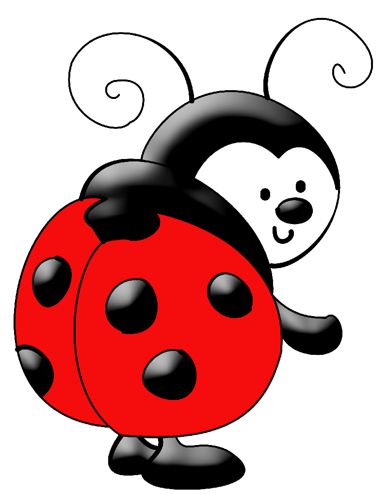 Ladybugs clipart pastel. Imagen para tarjetas butterflies