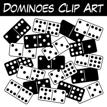 Free dominoes this full. Domino clipart