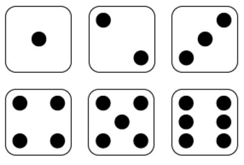 Domino clipart. Dice and dominoes graphics