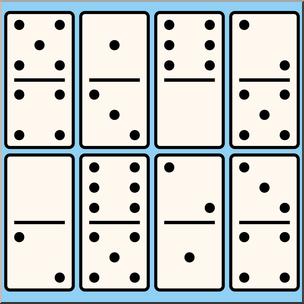 Domino clipart. Clip art dominos color