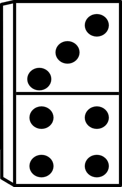 Image i royalty free. Domino clipart