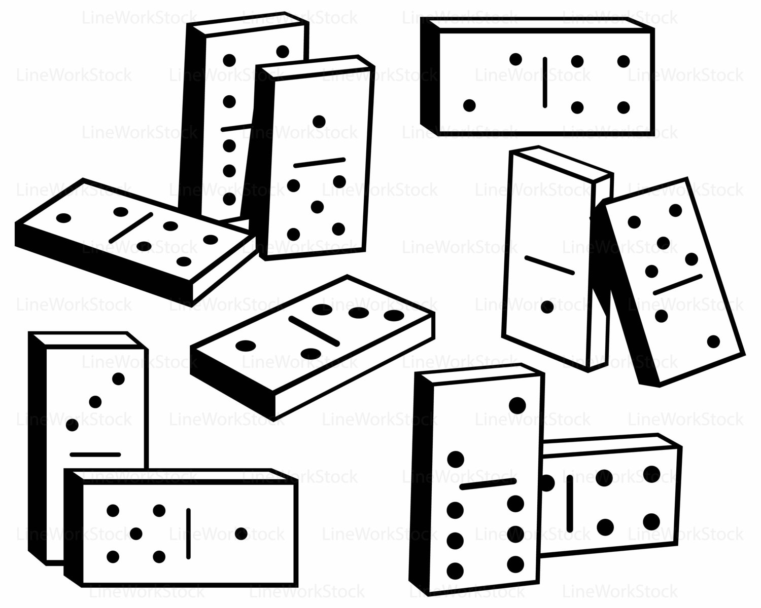 Domino clipart. Dominoes svg silhouette this