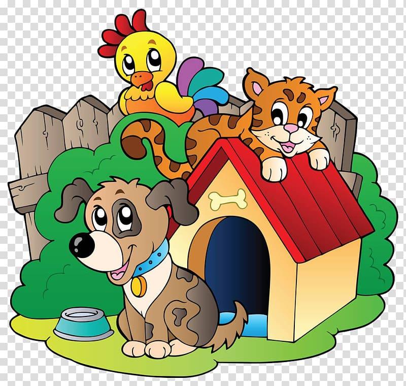 Animals on yard rescue. Pet clipart animal welfare