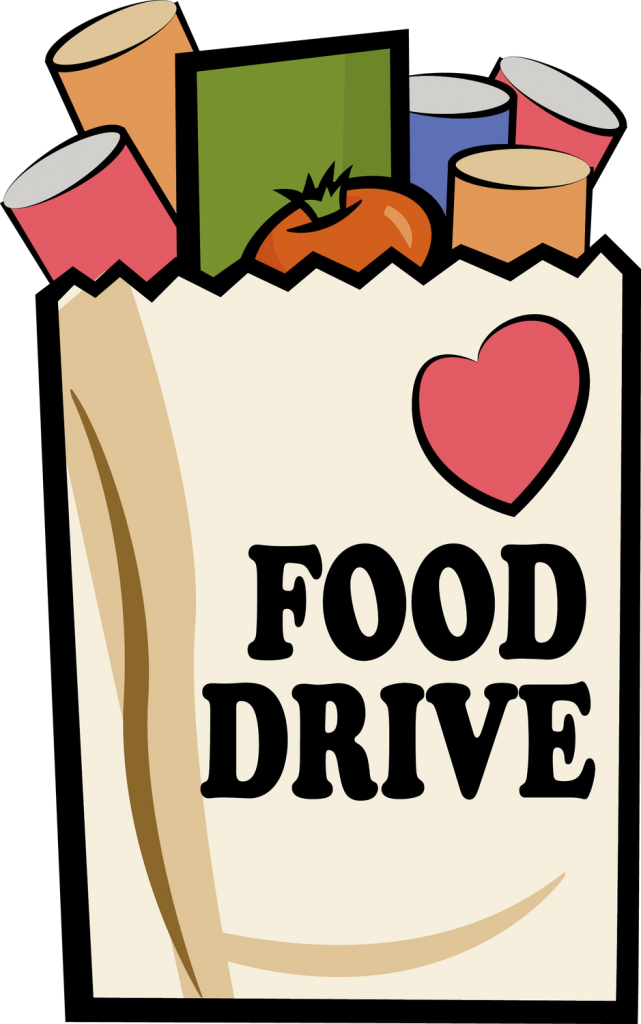 Support local earn free. Donation clipart canned food drive