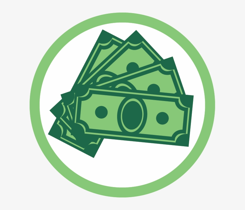 Money icon round png. Donation clipart cash payment