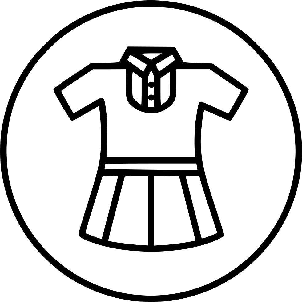 Study clipart svg. Girl uniform cloth school