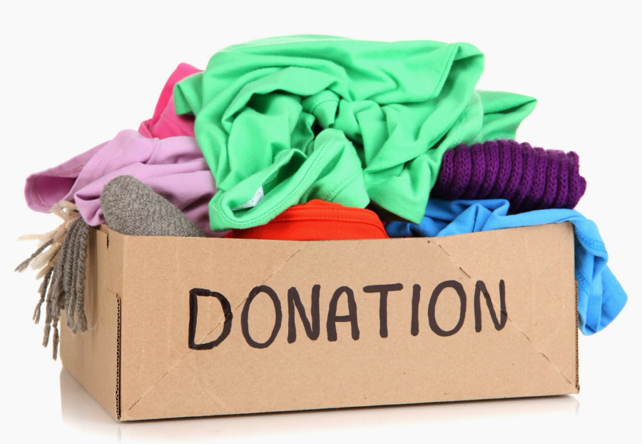 Donation clipart clothing drive. Gift cartoon product transparent