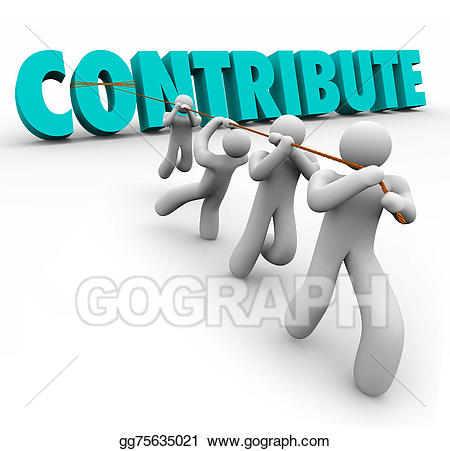 Teamwork clipart contribution. Drawing contribute d word