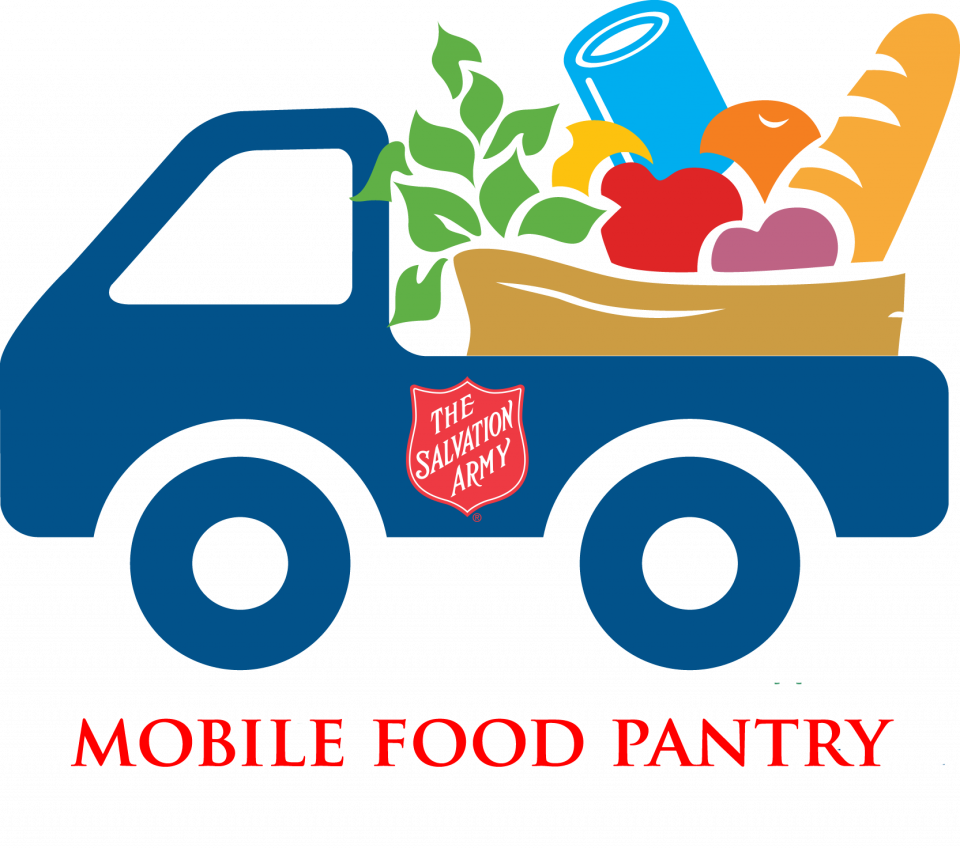 Donation clipart food bank. Mobile pantry the salvation