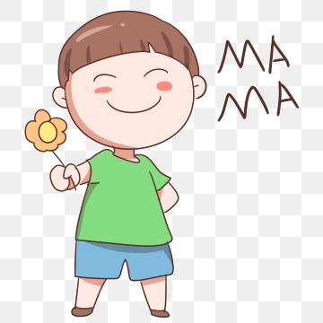 Give flowers to mother. Donation clipart gives