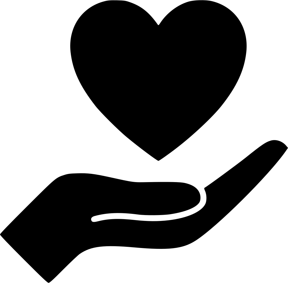 Svg png icon free. Donation clipart hand heart