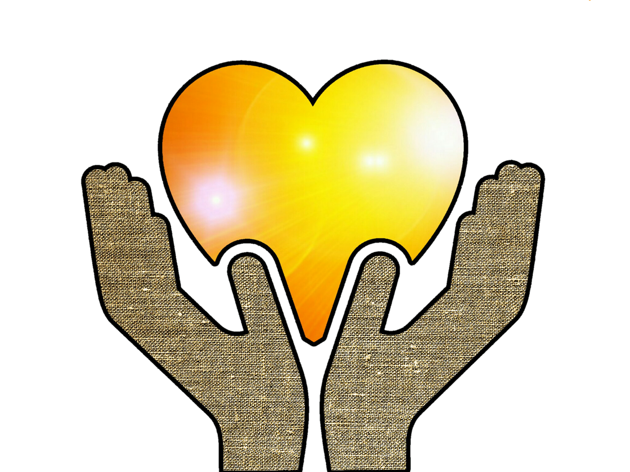 Donation clipart hand heart. Giving back atn event