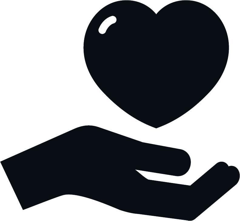 Donation clipart hand heart. Icon new venture institute