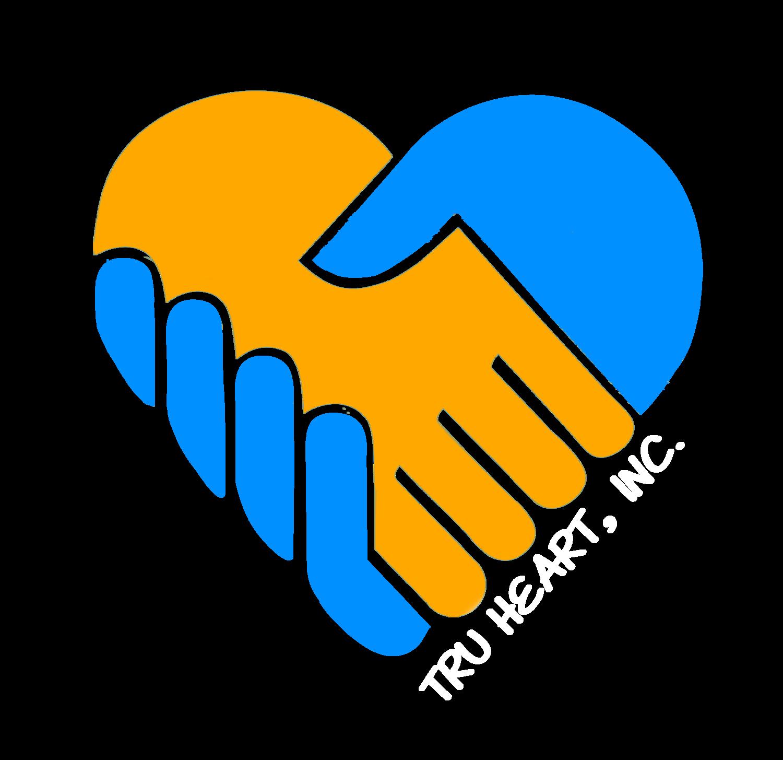 Donate tru. Donation clipart hand heart