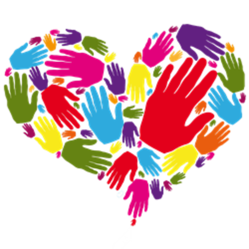 Caring heart hands llc. Kind clipart helping hand