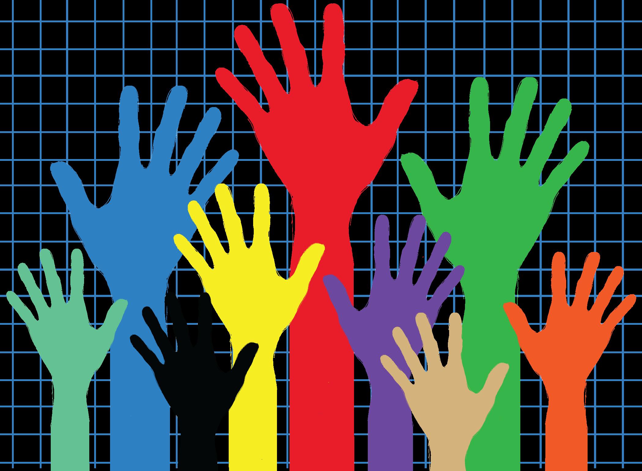 Volunteering clipart solidarity. Hands helping free download