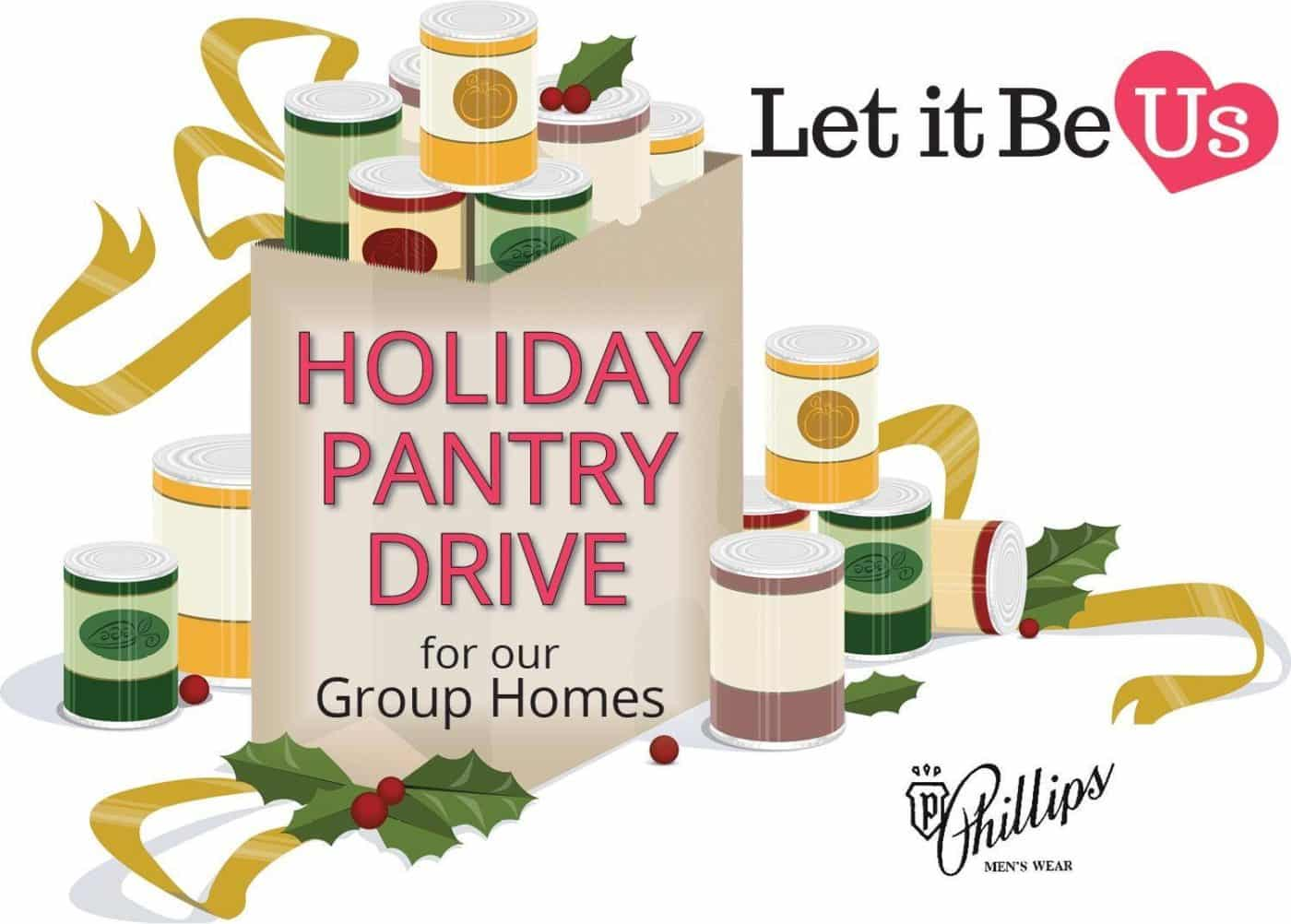 Donation clipart holiday food. Pantry stocking drive for