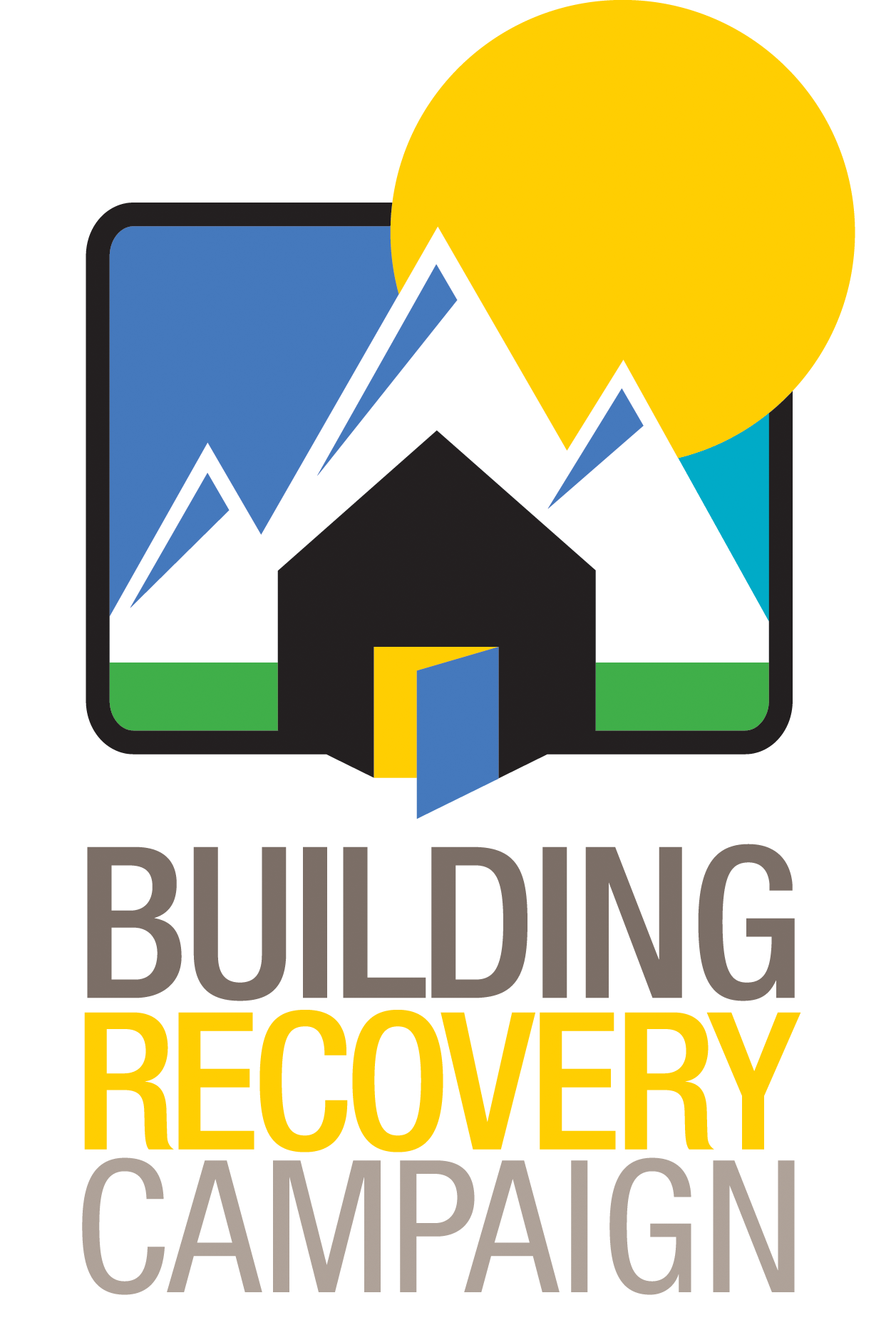 Building recovery mile high. Donation clipart homeless sign