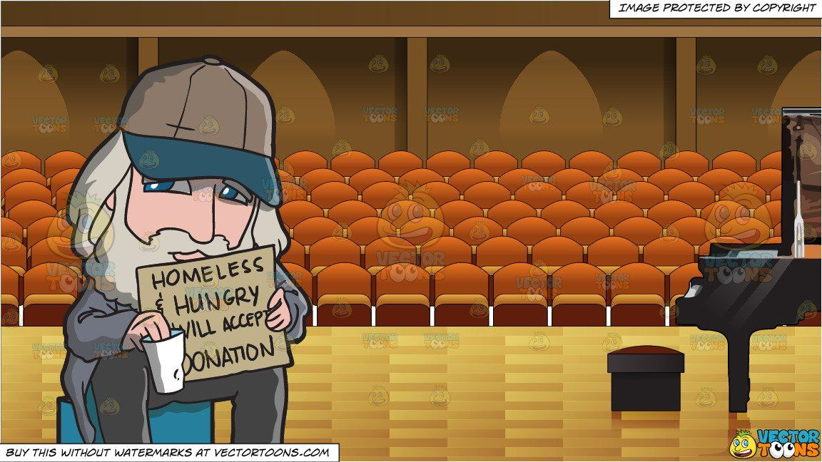 Donation clipart homless. Cartoon a homeless man