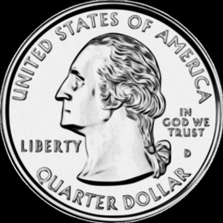 Coins quarter frames illustrations. Donation clipart money collection