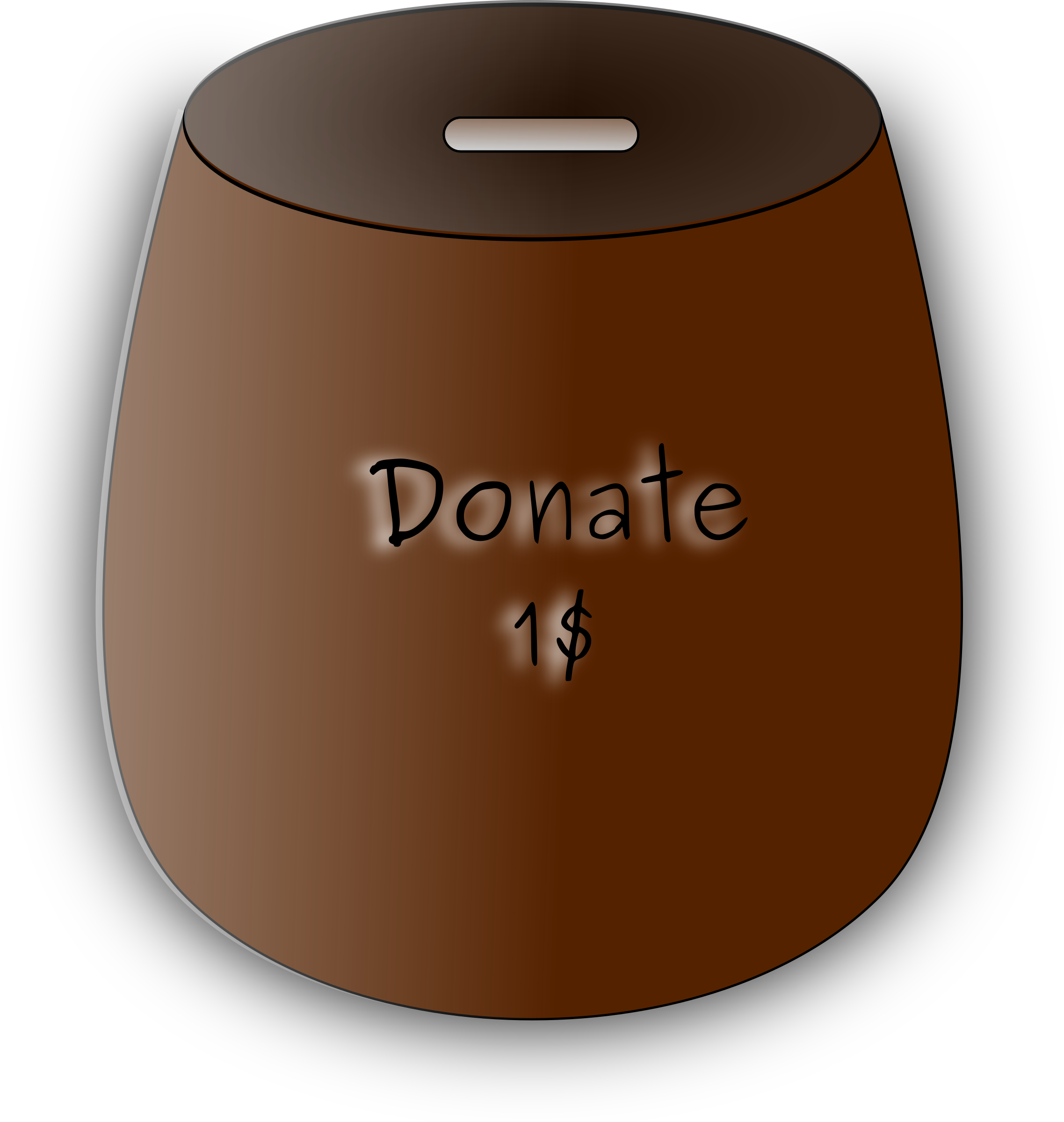 Box big image png. Donation clipart money collection