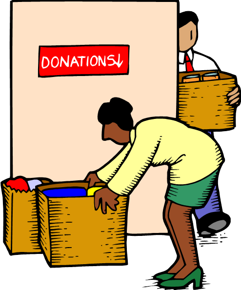 Cartoon background charity text. Donation clipart required