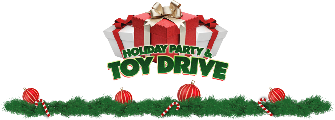 Donation clipart toy donation. Holiday party and drive