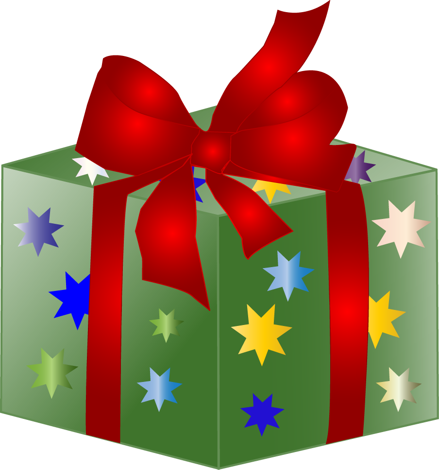 Holiday gift drive in. Donation clipart vector