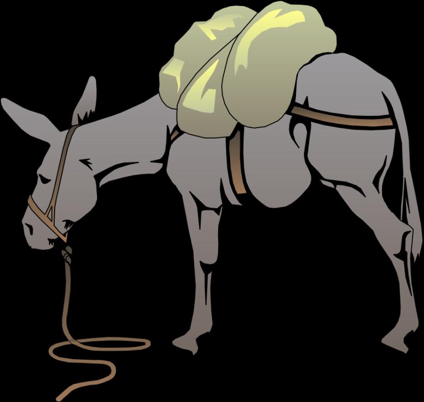 Horses clipart transportation. Donkey clip art free