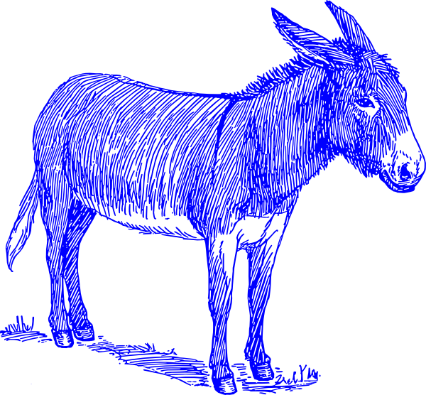 Blue clip art at. Politics clipart democrat donkey