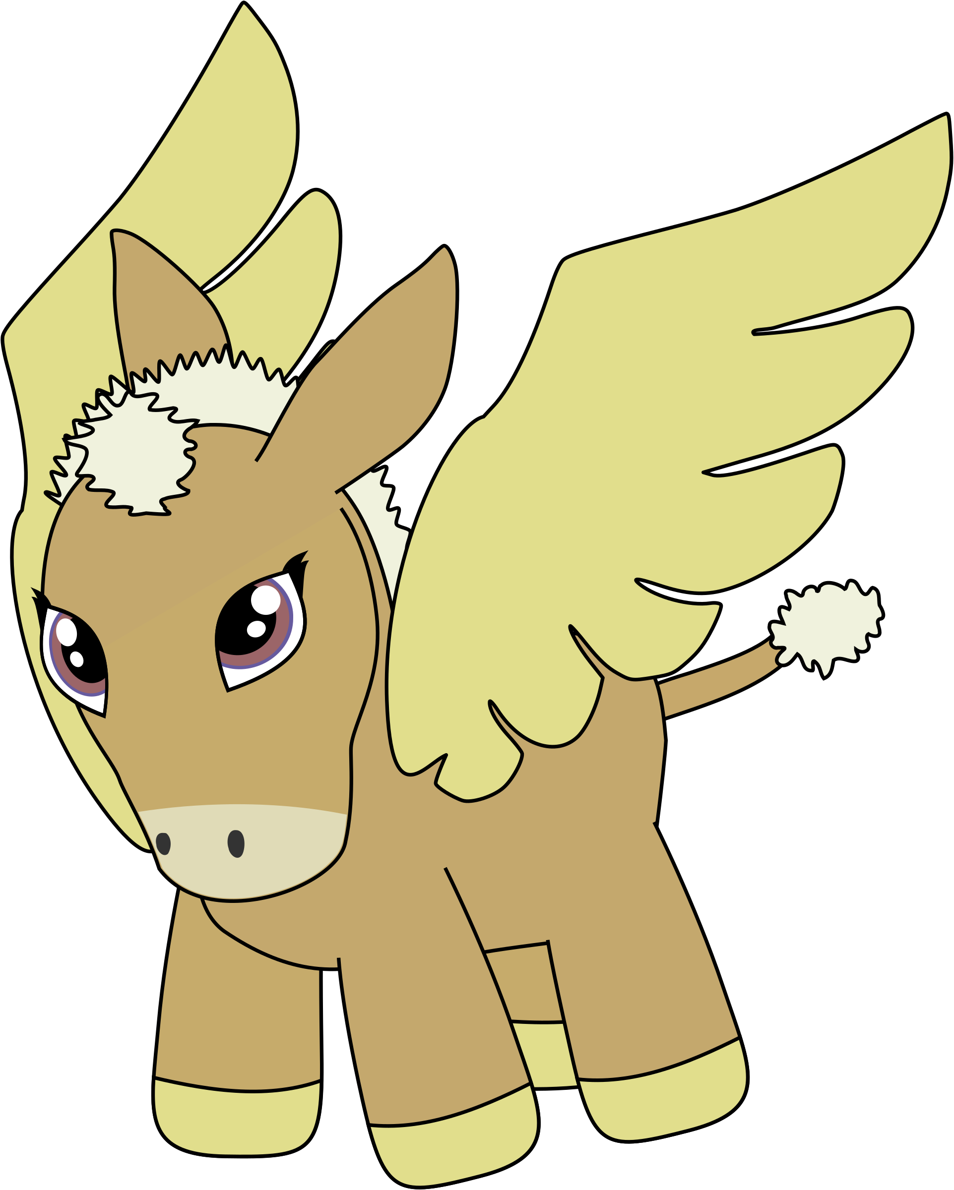 Missions clipart cartoon. Donkey pegasus in flight