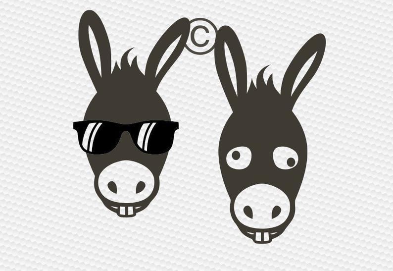 Svg head farm animal. Donkey clipart donkey face